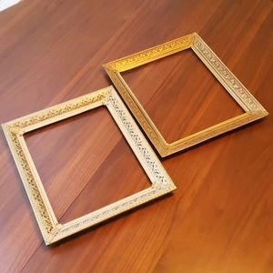 Vintage Metal Frames - Set of 2 - Gallery Wall!